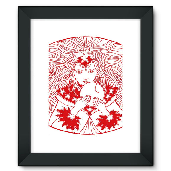 Magic Girl Framed Fine Art Print