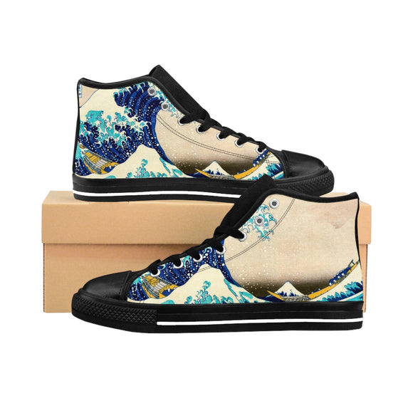 Japan Fuji Great Wave Hokusai Women's High-top Sneakers