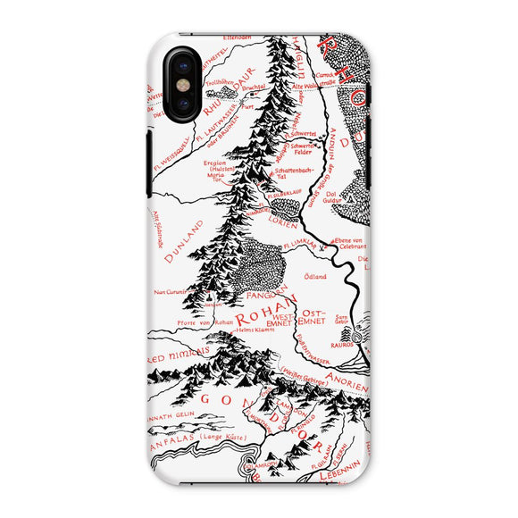 Hobbits Lord of the Ring Map Phone Case