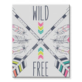 Wild and Free Stretched Eco-Canvas