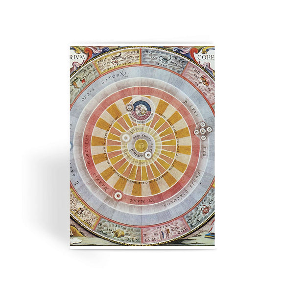 Planisphere Copernica Map Greeting Card