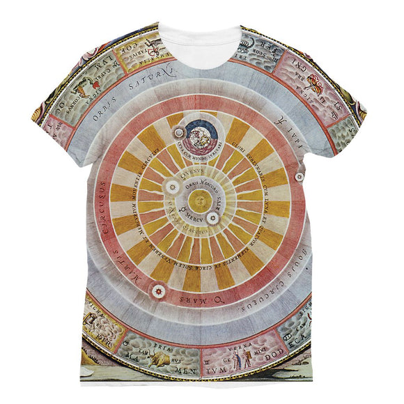 Planisphere Copernica Map Sublimation T-Shirt