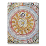 Planisphere Copernica Map Stretched Canvas