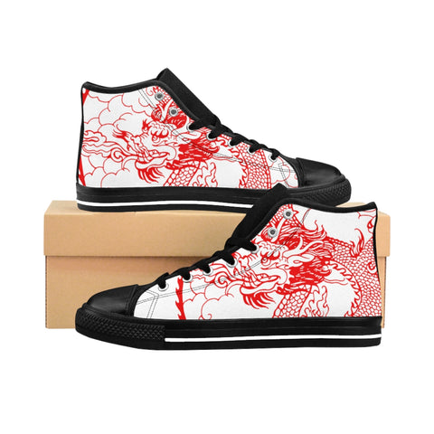 Women's High-top Sneakers Dragon