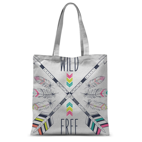 Wild and Free Sublimation Tote Bag