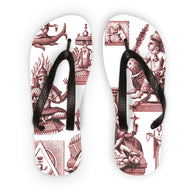 Budhism and Hinduism Gods Flip Flops