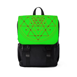 Sri Yantra Unisex Casual Shoulder Backpack