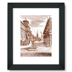 Architecture Old Europe City Framed Fine Art Print