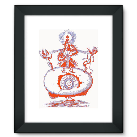 Hindu World Egg Framed Fine Art Print