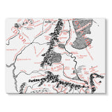 Hobbits Lord of the Ring Map Stretched Eco-Canvas