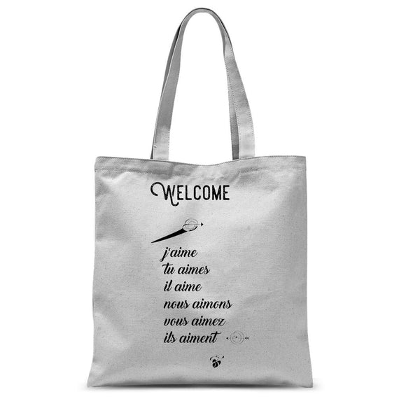 Welcome Sublimation Tote Bag