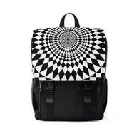 Geometry Black and White Art Shoulder Backpack