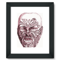 Tattoo Head New Zealand Framed Fine Art Print