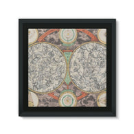 Planisphere Norimbergensis Astrology Map Framed Eco-Canvas