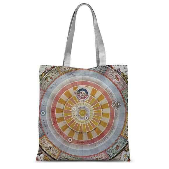 Planisphere Copernica Map Sublimation Tote Bag