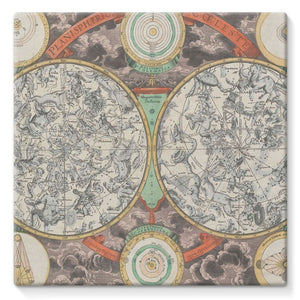 Planisphere Norimbergensis Astrology Map Stretched Eco-Canvas