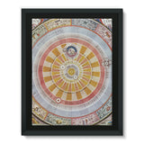 Planisphere Copernica Map Framed Eco-Canvas