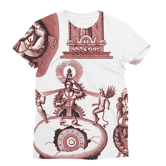 Hinduism and Budhism Gods Sublimation T-Shirt