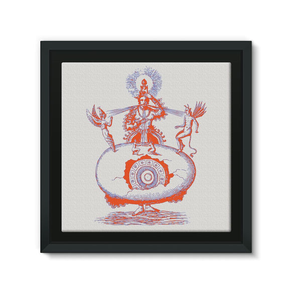 Hindu World Egg Framed Eco-Canvas