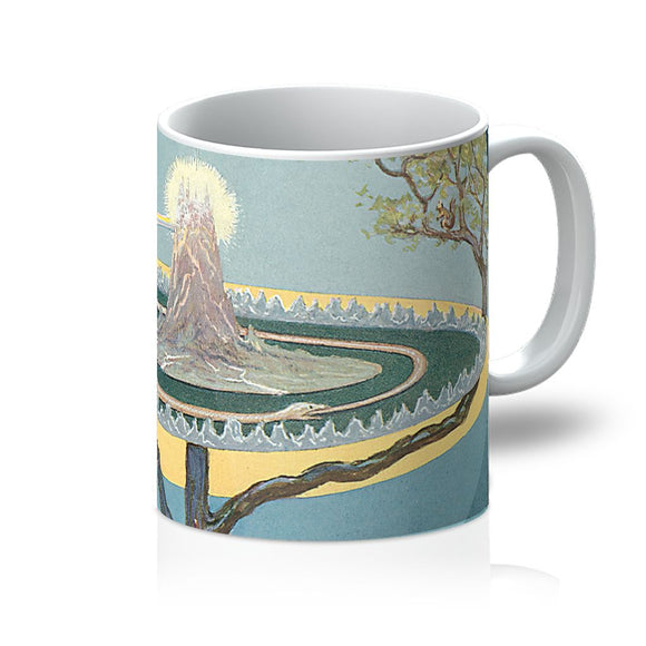 Yggdrasil Mug Tree of Live Nine Worlds of Norse Mythology