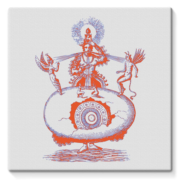 Hindu World Egg Stretched Canvas