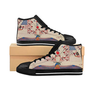 Women's High-top Sneakers Egyptian Motifs