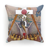 Rosicrucian Pelican Cushion