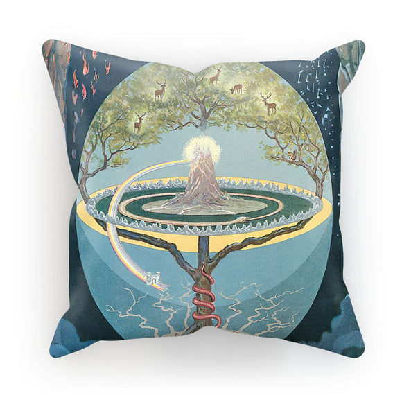 Yggdrasill Cushion THE NINE WORLDS of NORSE MYTHOLOGY
