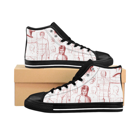 Men's High-top Sneakers Draftsmanship