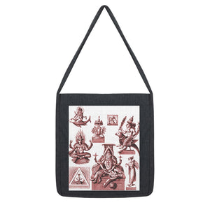 Budhism and Hinduism Gods Tote Bag