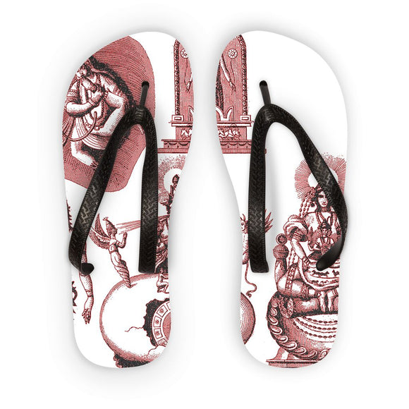Hinduism and Budhism Gods Flip Flops