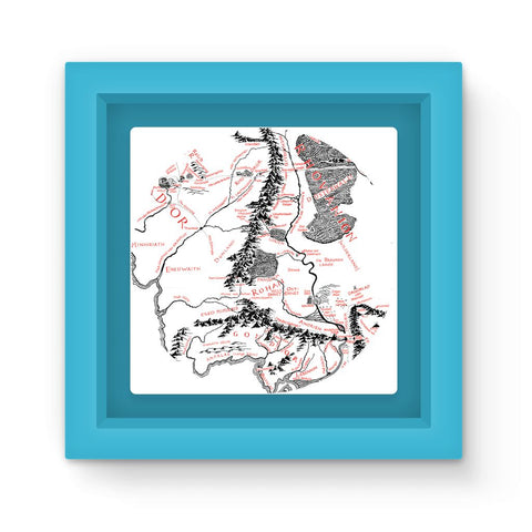 Hobbits Lord of the Ring Map Magnet Frame