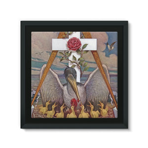 Rosicrucian Pelican Framed Eco-Canvas