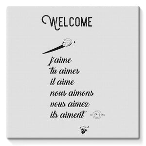 Welcome Stretched Canvas
