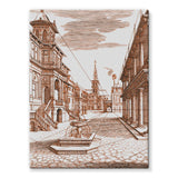 Architecture Old Europe City Stretched Canvas