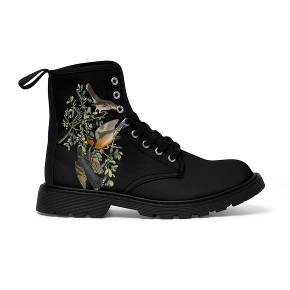 Nature Birds Women's Canvas Boots
