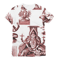 Budhism and Hinduism Gods Sublimation T-Shirt