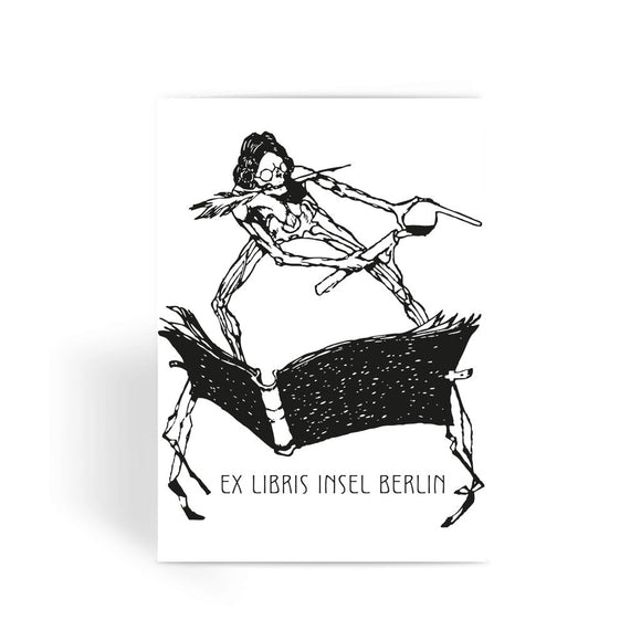 Ex Libris Book and Ink Exlibris-Insel Greeting Card
