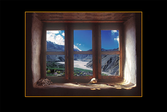 Window to the Montain, Canvas Art Print