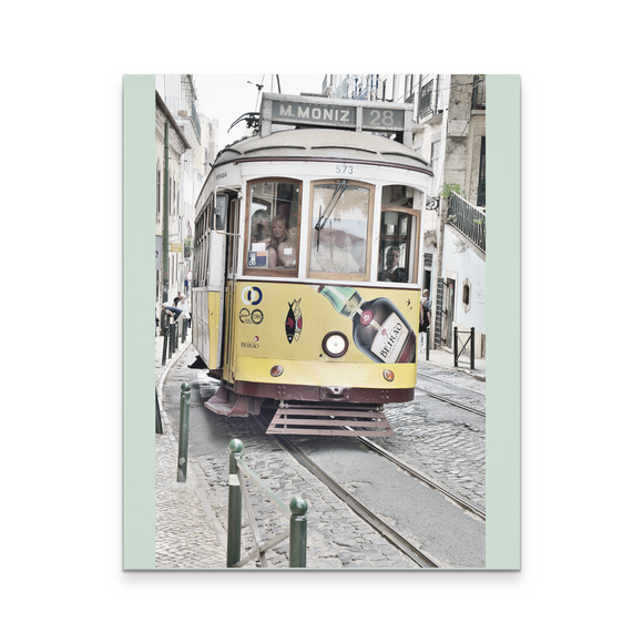 Tram in Lisbon, Canvas Art Print