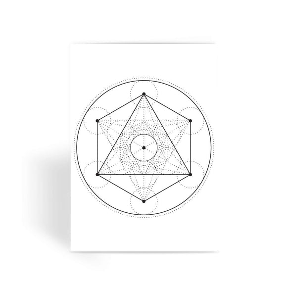 Metatrons Cube Greeting Card