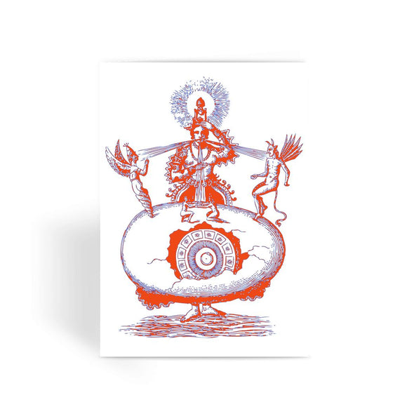 Hindu World Egg Greeting Card