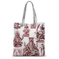 Budhism and Hinduism Gods Sublimation Tote Bag