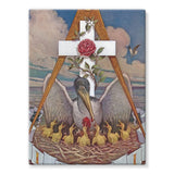 Rosicrucian Pelican Stretched Eco-Canvas