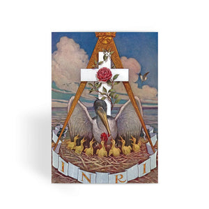 Rosicrucian Pelican Greeting Card