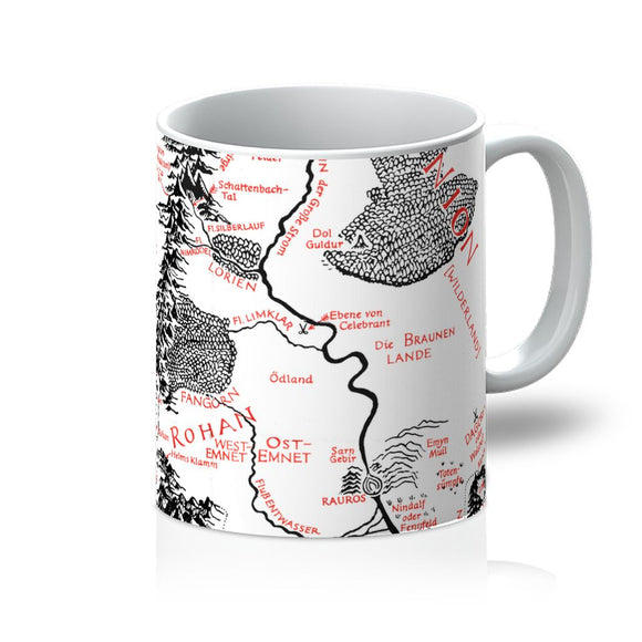 Hobbits Lord of the Ring Map Mug
