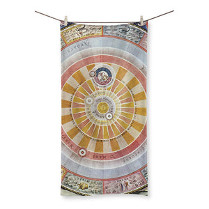 Planisphere Copernica Map Beach Towel