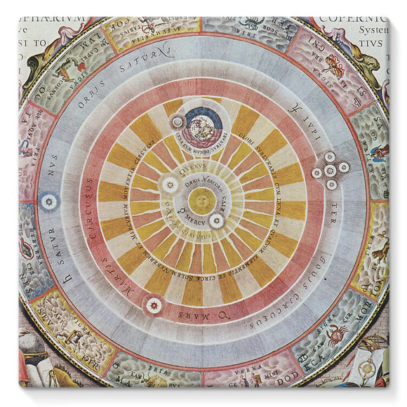 Planisphere Copernica Map Stretched Eco-Canvas