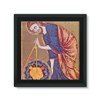 Geometry Compass Framed Canvas