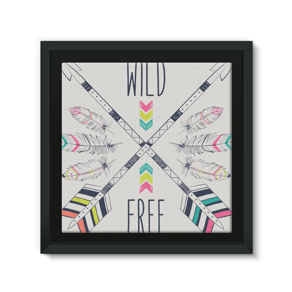 Wild and Free Framed Canvas